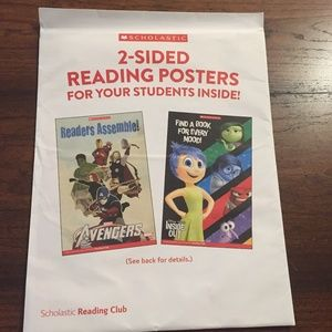5 Scholastic Reading Posters Avengers & Inside Out